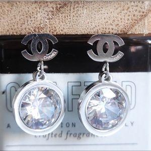 Chanel earrings silver